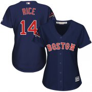Wholesale Cheap Red Sox #14 Jim Rice Navy Blue Alternate 2018 World Series Champions Women's Stitched MLB Jersey