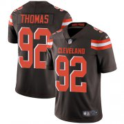 Wholesale Cheap Nike Browns #92 Chad Thomas Brown Team Color Men's Stitched NFL Vapor Untouchable Limited Jersey
