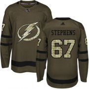 Cheap Adidas Lightning #67 Mitchell Stephens Green Salute to Service Youth Stitched NHL Jersey