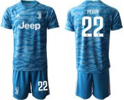 Wholesale Cheap Juventus #22 Perin Light Blue Soccer Club Jersey