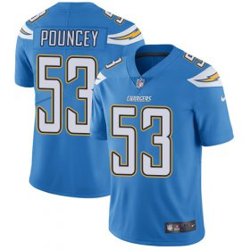 Wholesale Cheap Nike Chargers #53 Mike Pouncey Electric Blue Alternate Youth Stitched NFL Vapor Untouchable Limited Jersey