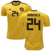 Wholesale Cheap Belgium #24 Kabasele Away Kid Soccer Country Jersey