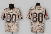 Wholesale Cheap Nike 49ers #80 Jerry Rice Camo USMC Men's Stitched NFL Elite Jersey