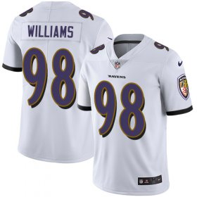 Wholesale Cheap Nike Ravens #98 Brandon Williams White Youth Stitched NFL Vapor Untouchable Limited Jersey