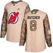 Wholesale Cheap Adidas Devils #8 Will Butcher Camo Authentic 2017 Veterans Day Stitched Youth NHL Jersey