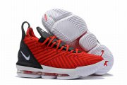 Wholesale Cheap Nike Lebron James 16 Air Cushion Shoes Red Black White-logo