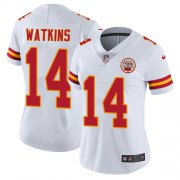 Wholesale Cheap Nike Chiefs #14 Sammy Watkins White Women's Stitched NFL Vapor Untouchable Limited Jersey
