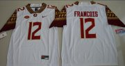 Wholesale Cheap Men's Florida State Seminoles #12 Deondre Francois White Stitched College Football 2016 Nike NCAA Jersey