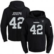 Wholesale Cheap Nike Raiders #42 Karl Joseph Black Name & Number Pullover NFL Hoodie