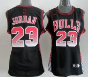 Wholesale Cheap Chicago Bulls #23 Michael Jordan Vibe Black Fashion Womens Jersey