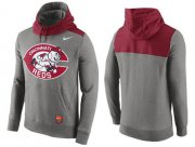 Wholesale Cheap Men's Cincinnati Reds Nike Gray Cooperstown Collection Hybrid Pullover Hoodie