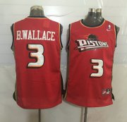 Wholesale Cheap Men's Detroit Pistons #3 Ben Wallace Red Hardwood Classics Soul Swingman Throwback Jersey