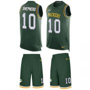 Wholesale Cheap Nike Packers #10 Darrius Shepherd Green Team Color Men's Stitched NFL Limited Tank Top Suit Jersey
