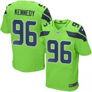 Wholesale Cheap Nike Seahawks #96 Cortez Kennedy Green Men's Stitched NFL Elite Rush Jersey