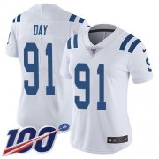 Wholesale Cheap Nike Colts #91 Sheldon Day White Women's Stitched NFL 100th Season Vapor Untouchable Limited Jersey