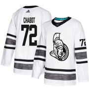 Wholesale Cheap Adidas Senators #72 Thomas Chabot White Authentic 2019 All-Star Stitched Youth NHL Jersey