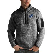 Wholesale Cheap Tampa Bay Lightning Antigua Fortune Quarter-Zip Pullover Jacket Charcoal
