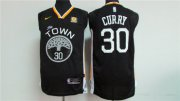 Wholesale Cheap Men's Golden State Warriors #30 Stephen Curry Black 2017-2018 Nike Swingman Rakuten Stitched NBA Jersey