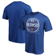 Wholesale Cheap New York Mets #20 Pete Alonso Majestic Single Season Franchise Home Run Record T-Shirt Royal
