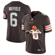 Wholesale Cheap Men's Cleveland Browns #6 Baker Mayfield Brown Brown Player Portrait Edition 2020 Vapor Untouchable Stitched NFL Nike Limited Jersey