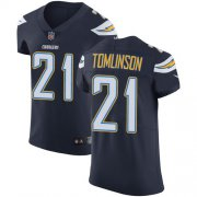 Wholesale Cheap Nike Chargers #21 LaDainian Tomlinson Navy Blue Team Color Men's Stitched NFL Vapor Untouchable Elite Jersey