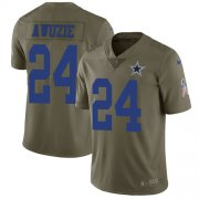 Wholesale Cheap Nike Cowboys #24 Chidobe Awuzie Olive Youth Stitched NFL Limited 2017 Salute to Service Jersey