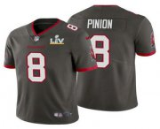 Wholesale Cheap Men's Tampa Bay Buccaneers #8 Bradley Pinion Grey 2021 Super Bowl LV Limited Stitched NFL Jersey
