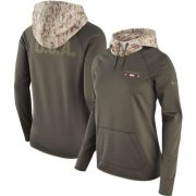 Wholesale Cheap Women's San Francisco 49ers Nike Olive Salute to Service Performance Pullover Hoodie