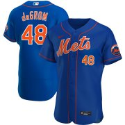 Wholesale Cheap New York Mets #48 Jacob deGrom Men's Nike Royal Alternate 2020 Authentic Player MLB Jersey