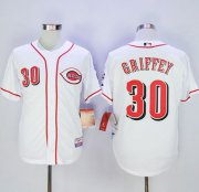 Wholesale Cheap Reds #30 Ken Griffey White Cool Base Stitched MLB Jersey
