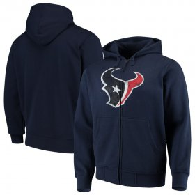 Wholesale Cheap Houston Texans G-III Sports by Carl Banks Primary Logo Full-Zip Hoodie Navy