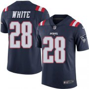 Wholesale Cheap Nike Patriots #28 James White Navy Blue Men's Stitched NFL Limited Rush Jersey