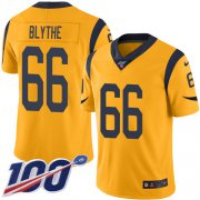 Wholesale Cheap Nike Rams #66 Austin Blythe Gold Men's Stitched NFL Limited Rush 100th Season Jersey
