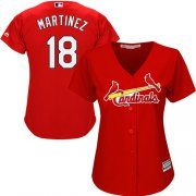 Wholesale Cheap Cardinals #18 Carlos Martinez Red Alternate Women's Stitched MLB Jersey