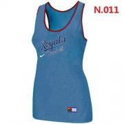 Wholesale Cheap Women's Nike Kansas City Royals Tri-Blend Racerback Stretch Tank Top Light Blue