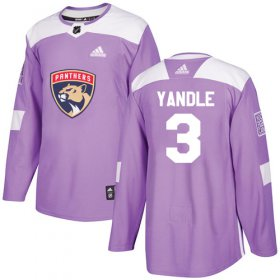 Wholesale Cheap Adidas Panthers #3 Keith Yandle Purple Authentic Fights Cancer Stitched Youth NHL Jersey