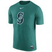 Wholesale Cheap Seattle Mariners Nike Authentic Collection Legend Logo 1.5 Performance T-Shirt Aqua