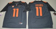 Wholesale Cheap Tennessee Vols #11 Joshua Dobbs Grey Limited Stitched NCAA Jersey