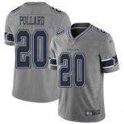 Wholesale Cheap Nike Cowboys #20 Tony Pollard Gray Youth Stitched NFL Limited Inverted Legend Jersey