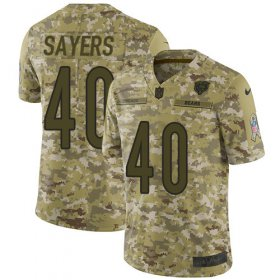 Wholesale Cheap Nike Bears #40 Gale Sayers Camo Men\'s Stitched NFL Limited 2018 Salute To Service Jersey