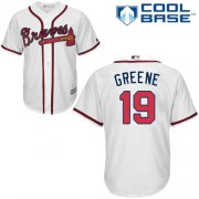 Wholesale Cheap Braves #19 Shane Greene White New Cool Base Stitched MLB Jersey