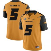 Wholesale Cheap Missouri Tigers 5 Terry Beckne Jr. Gold Nike College Football Jersey