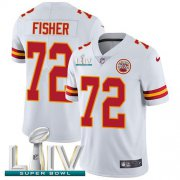Wholesale Cheap Nike Chiefs #72 Eric Fisher White Super Bowl LIV 2020 Youth Stitched NFL Vapor Untouchable Limited Jersey