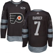 Wholesale Cheap Adidas Flyers #7 Bill Barber Black 1917-2017 100th Anniversary Stitched NHL Jersey