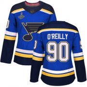 Wholesale Cheap Adidas Blues #90 Ryan O'Reilly Blue Home Authentic Stanley Cup Champions Women's Stitched NHL Jersey