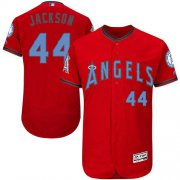 Wholesale Cheap Angels of Anaheim #44 Reggie Jackson Red Flexbase Authentic Collection Father's Day Stitched MLB Jersey
