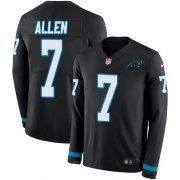 Wholesale Cheap Nike Panthers #7 Kyle Allen Black Team Color Men's Stitched NFL Limited Therma Long Sleeve Jersey