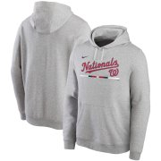 Wholesale Cheap Washington Nationals Nike Color Bar Club Pullover Hoodie Gray