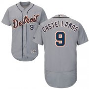Wholesale Cheap Tigers #9 Nick Castellanos Grey Flexbase Authentic Collection Stitched MLB Jersey