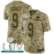 Wholesale Cheap Nike 49ers #9 Robbie Gould Camo Super Bowl LIV 2020 Men's Stitched NFL Limited 2018 Salute To Service Jersey